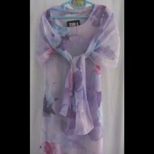 Girl's Purple Floral Maxi Dress
